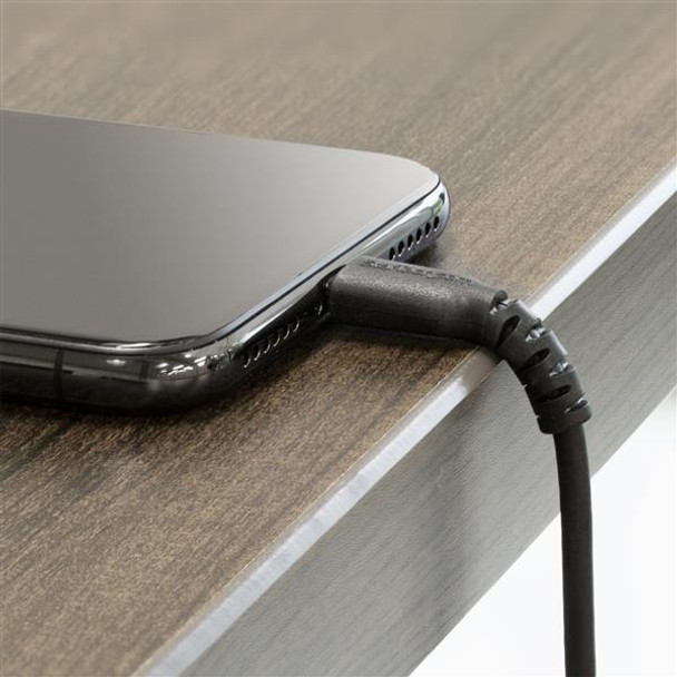 StarTech 6.6 ft USB to Lightning Cable - Apple MFi Certified - Black Product Image 5