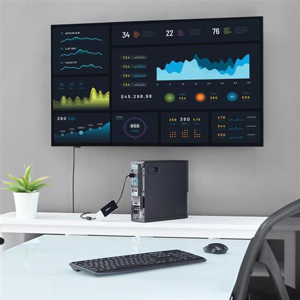 StarTech DisplayPort to VGA/DVI/HDMI Adapter  DP Converter  Black Product Image 4