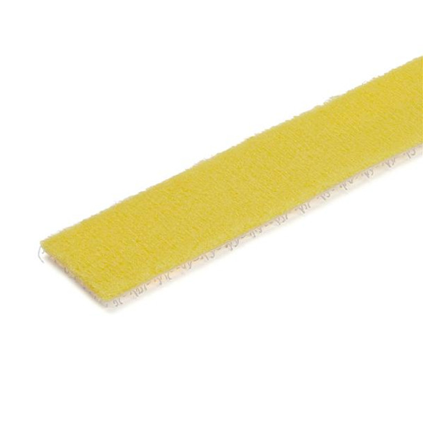 StarTech 25ft. Hook and Loop Roll - Yellow - Reusable Product Image 2