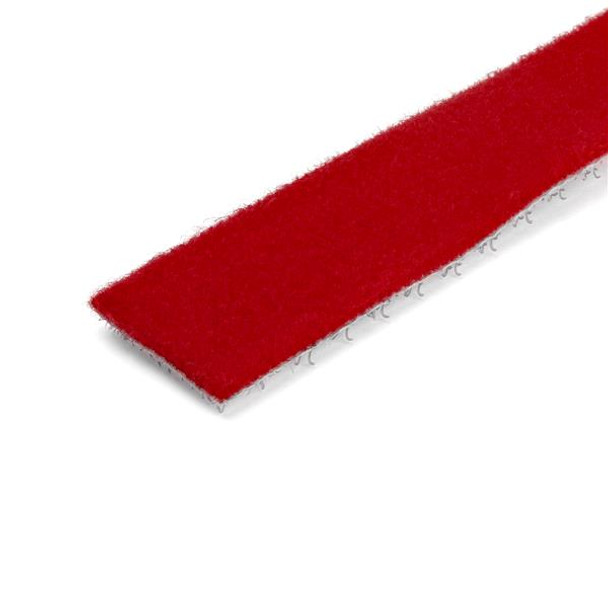 StarTech 25ft. Hook and Loop Roll - Red - Reusable Product Image 2