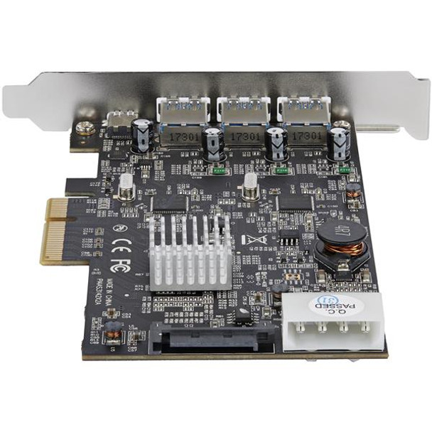 StarTech 4 Port USB 3.1 PCIe Card - 3x A and 1x C 2x 10Gbps Channels Product Image 3
