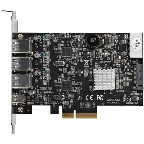 StarTech 4 Port USB 3.1 PCIe Card - 3x A and 1x C 2x 10Gbps Channels Product Image 4