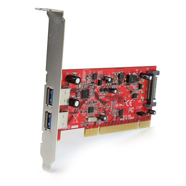 StarTech Dual Port PCI SuperSpeed USB 3 Controller Card with SATA Power Product Image 2