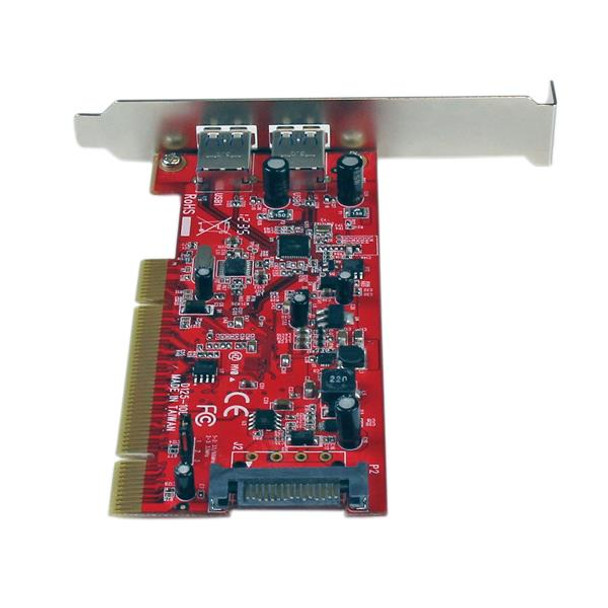 StarTech Dual Port PCI SuperSpeed USB 3 Controller Card with SATA Power Product Image 4