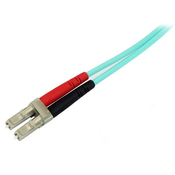 StarTech 10m LC Fiber Optic Cable 10Gb Aqua - MM Duplex 50/125 - LSZH Product Image 2