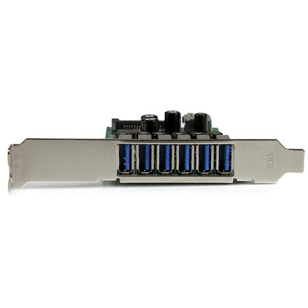StarTech 7 Pt PCIe USB 3.0 Adapter Card - SATA Power - UASP Support Product Image 3