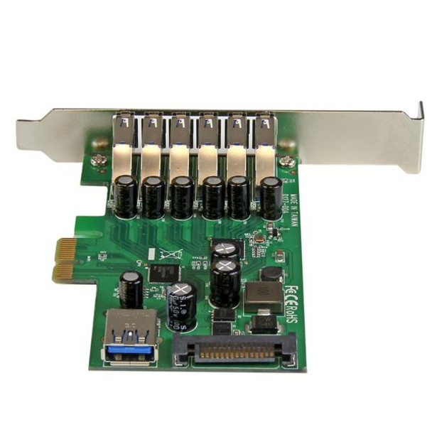 StarTech 7 Pt PCIe USB 3.0 Adapter Card - SATA Power - UASP Support Product Image 4