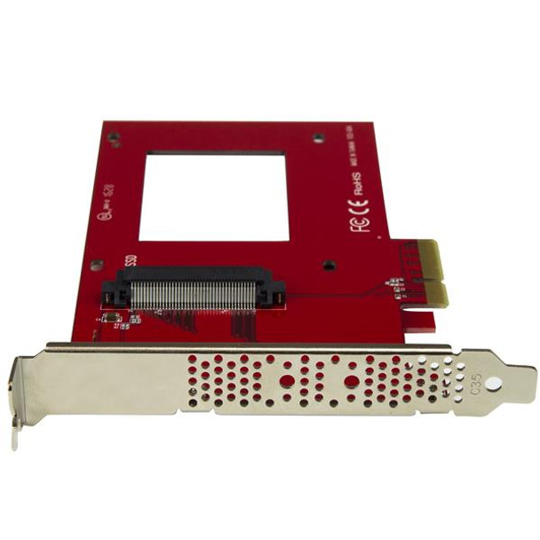 StarTech U.2 to PCIe Adapter - 2.5in U.2 NVMe SSD - SFF-8639 - x4 PCIe Product Image 4