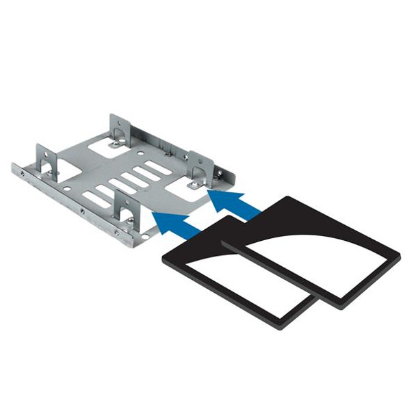 StarTech Dual 2.5in SATA HDD/SSD to 3.5in Bay Mounting Bracket Adapter Product Image 5