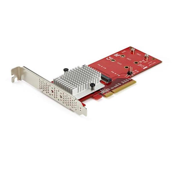 Image for StarTech StarTech.com x8 Dual M.2 PCI Express SSD Adapter - PCIe 3.0 AusPCMarket