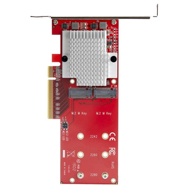 StarTech StarTech.com x8 Dual M.2 PCI Express SSD Adapter - PCIe 3.0 Product Image 5