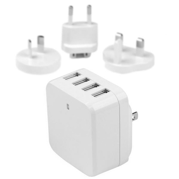 Image for StarTech 4-Port USB International Wall Charger - 34W/6.8A - White AusPCMarket