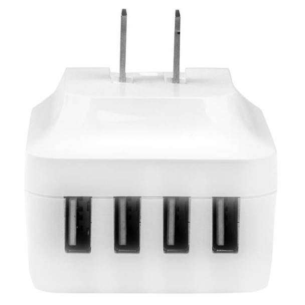 StarTech 4-Port USB International Wall Charger - 34W/6.8A - White Product Image 3