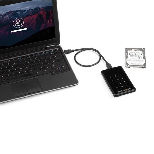 StarTech Encrypted External Hard Drive USB 3 SATA Portable HDD Enclosure Product Image 5
