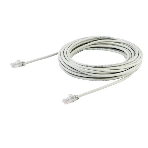 StarTech 10m Gray Cat5e Ethernet Patch Cable - Snagless Product Image 3