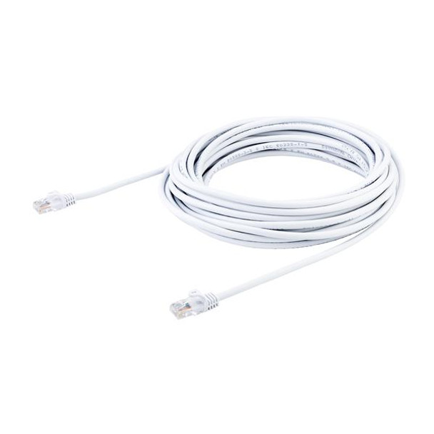 StarTech 10m White Cat5e Ethernet Patch Cable - Snagless Product Image 3