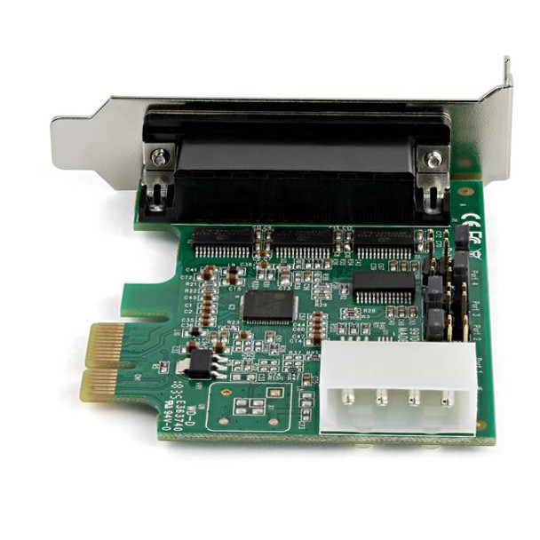 StarTech 4 Port PCI Express RS232 Serial Adapter Card - 16950 UART Product Image 4