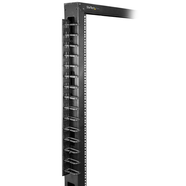 StarTech Cable Management Panel - Vertical Rackmount Cable Organizer Product Image 5