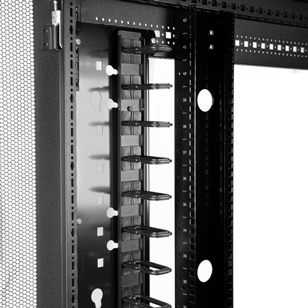 StarTech Cable Management Panel - Vertical Rackmount Cable Organizer Product Image 6