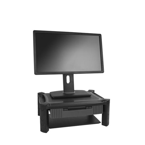 StarTech Computer Monitor Riser Stand with Drawer - Height Adjustable Product Image 2