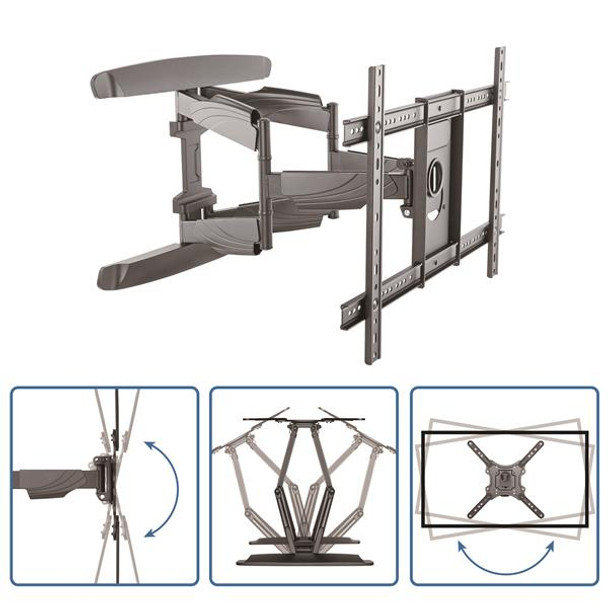 StarTech Full Motion TV Wall Mount - Steel - 32 to 70in TVs Product Image 6