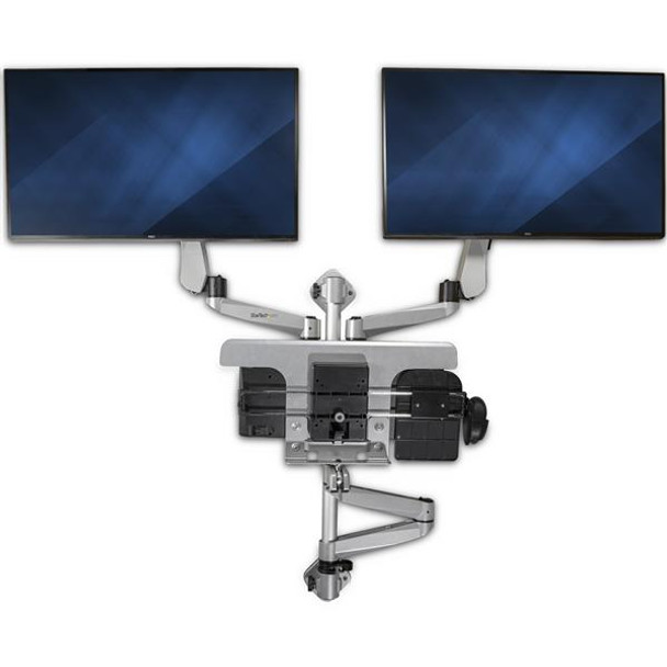 StarTech Wall Mounted Computer Workstation - Articulating Dual Arm Product Image 5