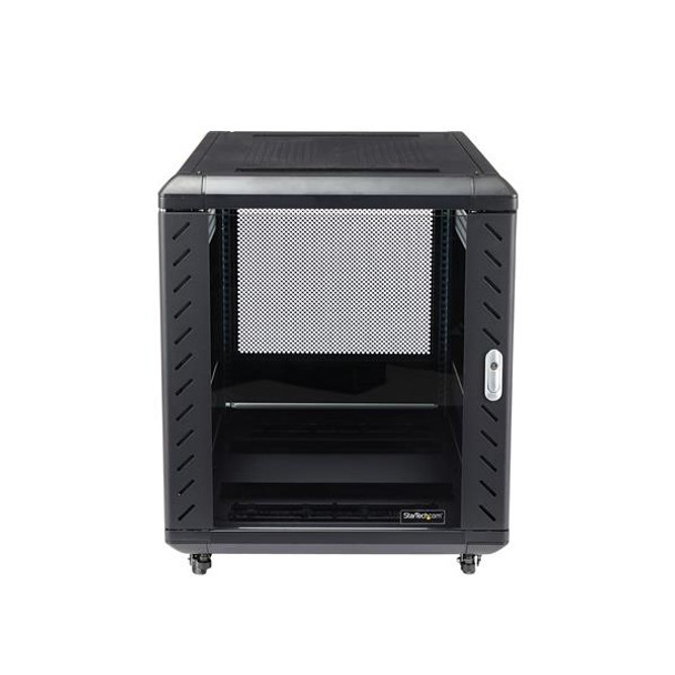 StarTech 12U 29in Knock-Down Server Rack Cabinet with Casters Product Image 2