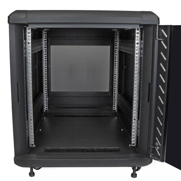 StarTech 12U 29in Knock-Down Server Rack Cabinet with Casters Product Image 4