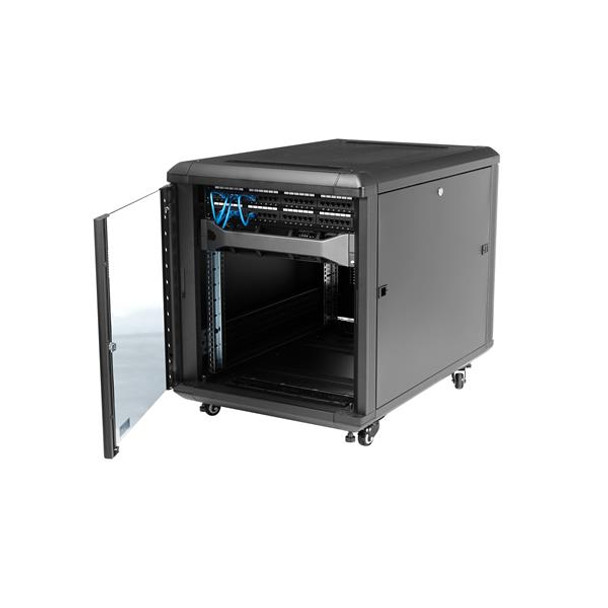 StarTech 12U 29in Knock-Down Server Rack Cabinet with Casters Product Image 5