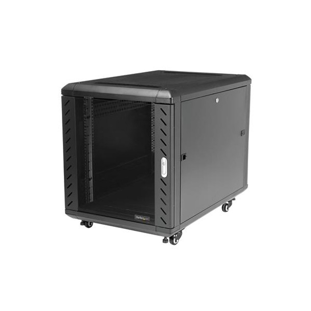StarTech 12U 29in Knock-Down Server Rack Cabinet with Casters Product Image 6