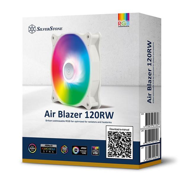 SilverStone Air Blazer 120R 120mm ARGB PWM Case Fan - White Product Image 10