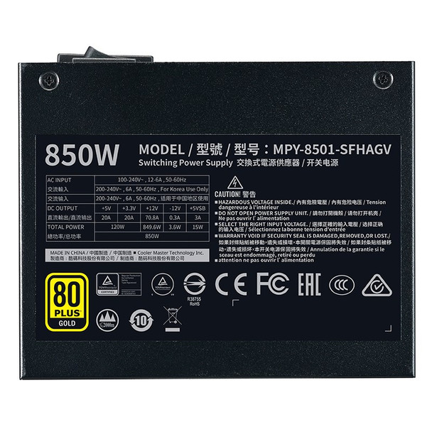 Cooler Master V850 SFX Gold Power Supply Product Image 5