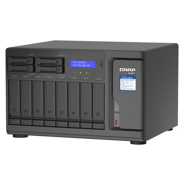 QNAP TVS-h1288X-W1250-16G 12-Bay Diskless NAS Xeon W-1250 6-Core 16GB RAM Product Image 3