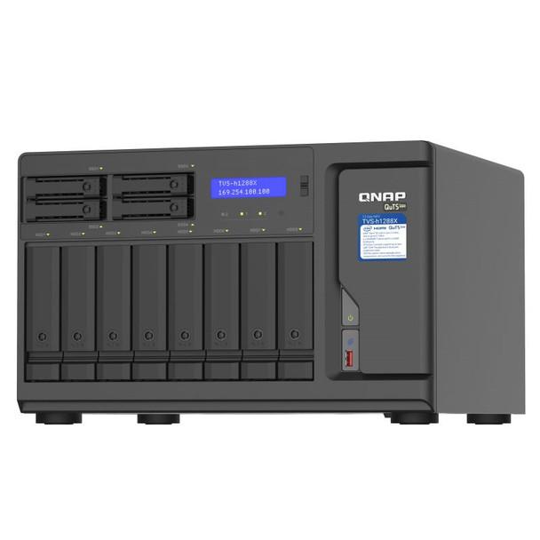 QNAP TVS-h1288X-W1250-16G 12-Bay Diskless NAS Xeon W-1250 6-Core 16GB RAM Product Image 4