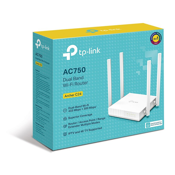 TP-Link Archer C24 AC750 Dual-Band Wi-Fi Router Product Image 4