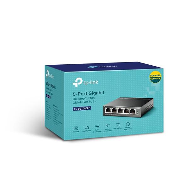 TP-Link TL-SG1005LP 5-Port 10/100/1000 Mbps Desktop Switch with 4-Port PoE+ Product Image 3