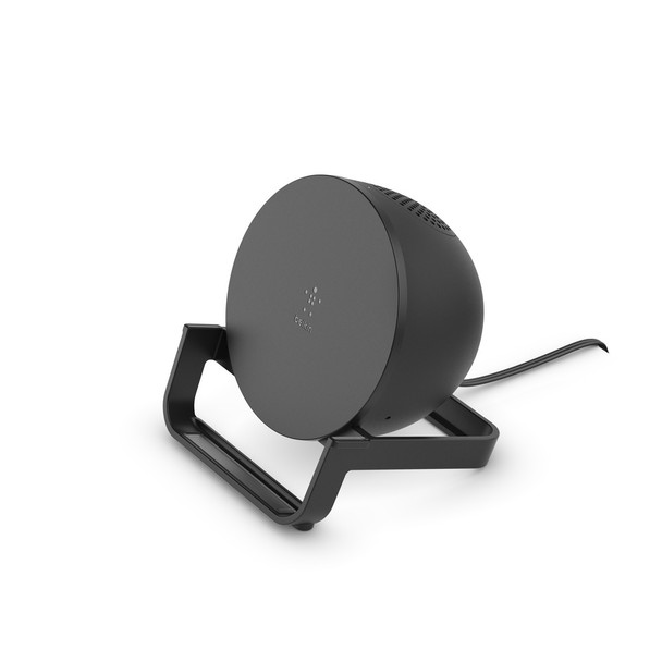 Belkin BOOSTCHARGE 10W Wireless Charging Stand and Speaker - Universally compatible - Black Product Image 2