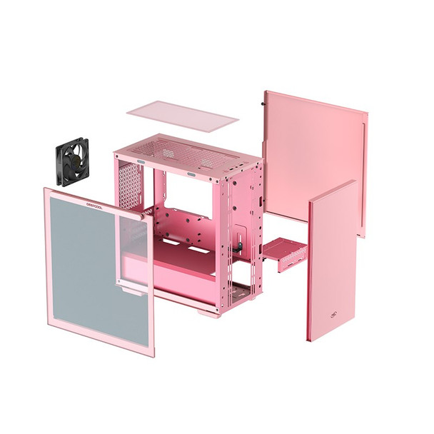 Deepcool MACUBE 110 Tempered Glass Mini Tower Micro-ATX Case - Pink Product Image 5