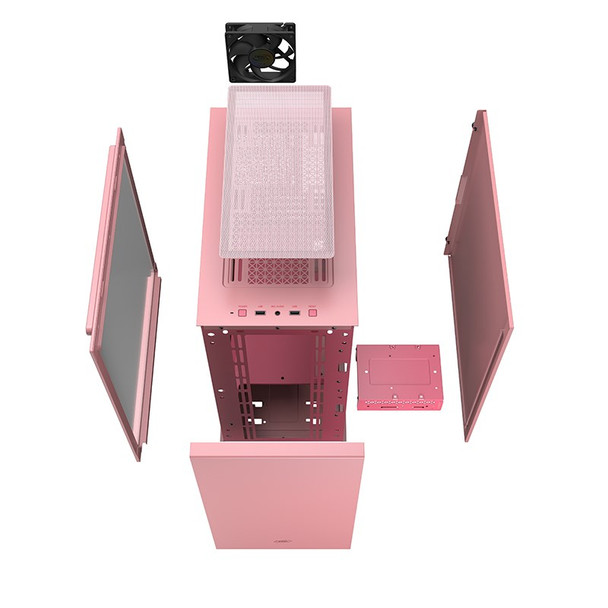 Deepcool MACUBE 110 Tempered Glass Mini Tower Micro-ATX Case - Pink Product Image 6