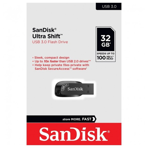 SanDisk 32GB Ultra Shift USB 3.0 Type-A Flash Drive - 100MB/s Product Image 5