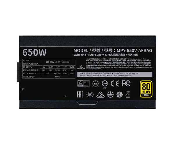 Cooler Master V 650W GOLD Modular V2 Power Supply Product Image 3
