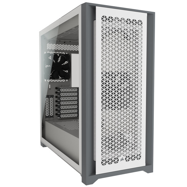 Corsair 5000D AIRFLOW Tempered Glass Mid-Tower ATX PC Case — White Main Product Image