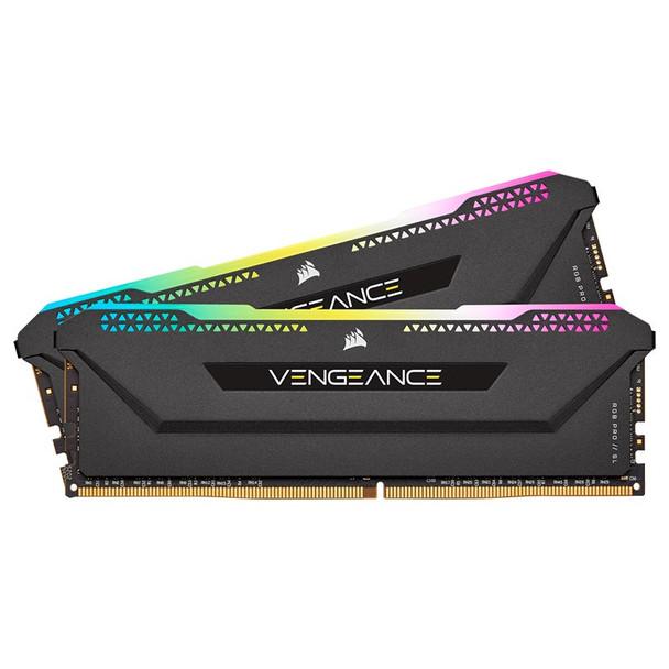 Corsair Vengeance RGB PRO SL 16GB (2x 8GB) DDR4 3200MHz CL16 Memory - Black Main Product Image