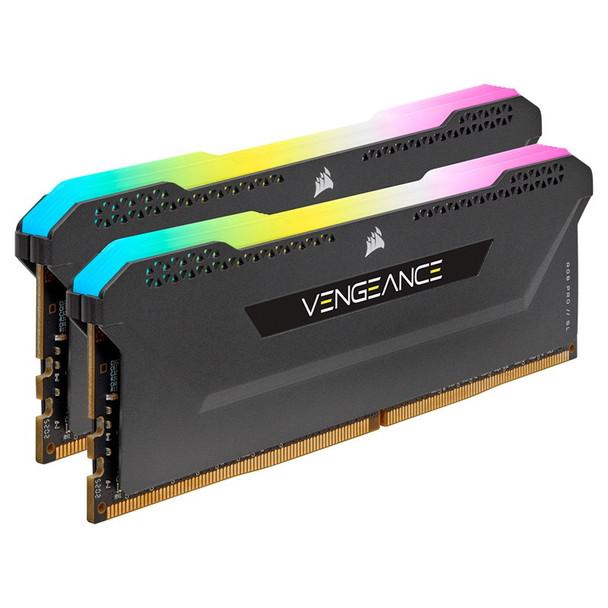 Corsair Vengeance RGB PRO SL 16GB (2x 8GB) DDR4 3200MHz CL16 Memory - Black Product Image 3