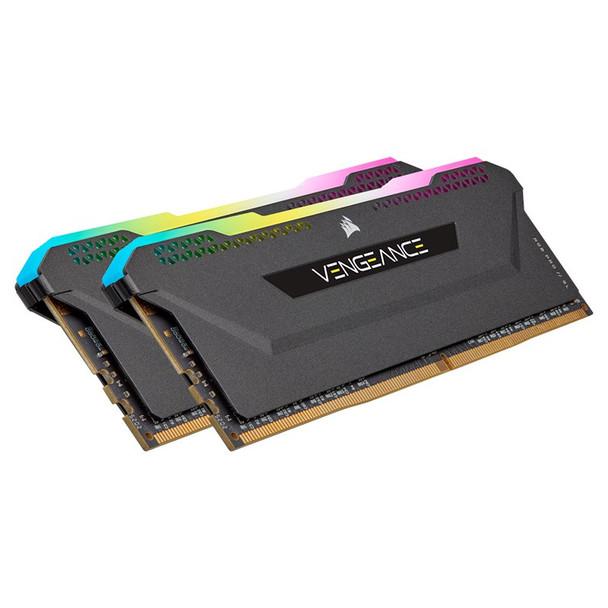 Corsair Vengeance RGB PRO SL 16GB (2x 8GB) DDR4 3600MHz CL18 Memory - Black Product Image 2