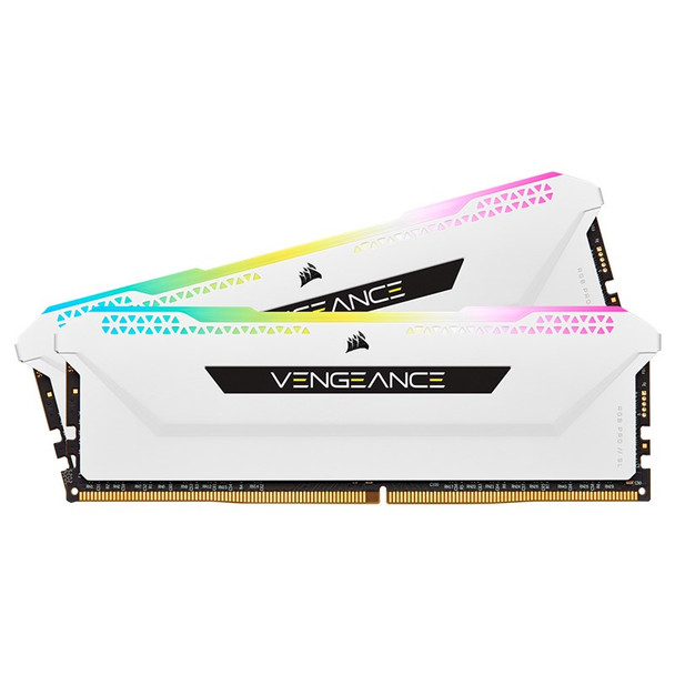 Corsair Vengeance RGB PRO SL 16GB (2x 8GB) DDR4 3600MHz CL18 Memory - White Main Product Image