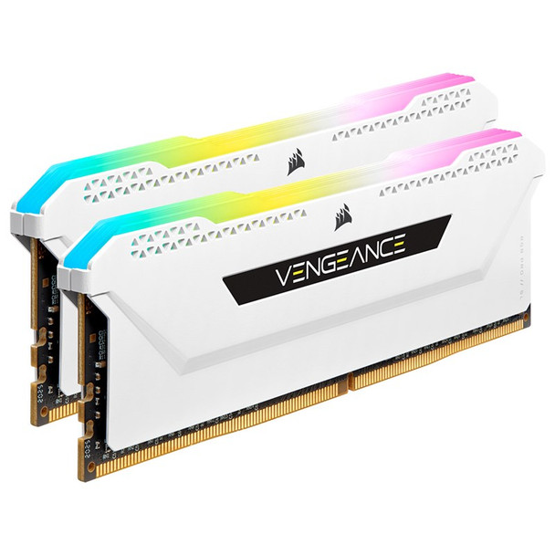 Corsair Vengeance RGB PRO SL 32GB (2x 16GB) DDR4 3600MHz CL18 Memory - White Product Image 3