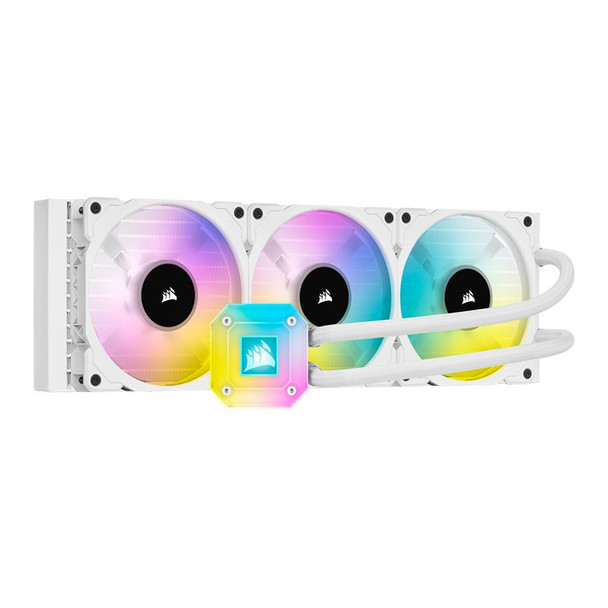 Corsair iCUE H150i ELITE CAPELLIX Liquid CPU Cooler — White Main Product Image