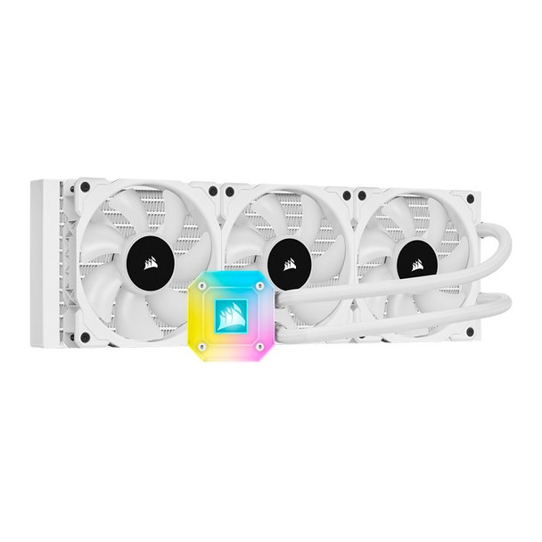 Corsair iCUE H150i ELITE CAPELLIX Liquid CPU Cooler — White Product Image 7