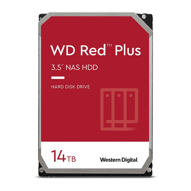 Western Digital WD WD140EFGX 14TB Red Plus 3.5in IntelliPower 7200RPM SATA NAS Hard Drive Main Product Image